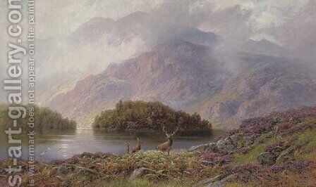 Ellen's Isle, Loch Katrine by Charles Stuart - Reproduction Oil Painting