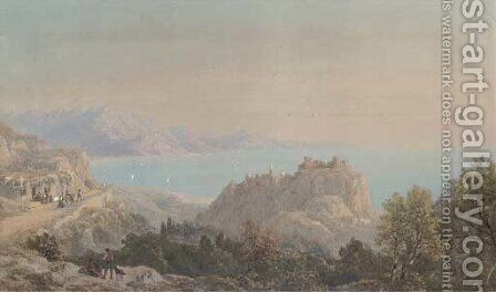 On the Italian coast by Charles Vacher - Reproduction Oil Painting