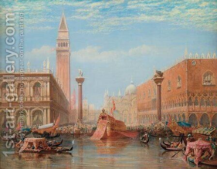 The Fete of the Marriage of the Adriatic, Venice by Charles Vacher - Reproduction Oil Painting