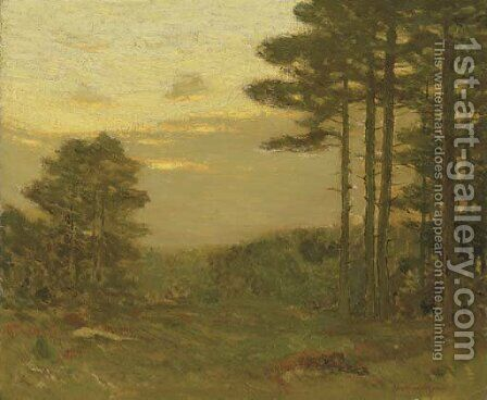 Pine Trees at Dusk by Charles Harry Eaton - Reproduction Oil Painting