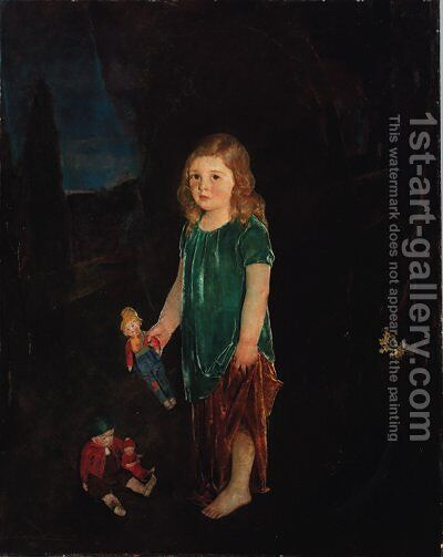 Girl with Dolls by Charles Webster Hawthorne - Reproduction Oil Painting