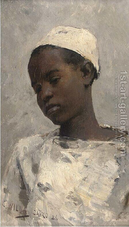 A boy from Cairo by Charles Wilda - Reproduction Oil Painting