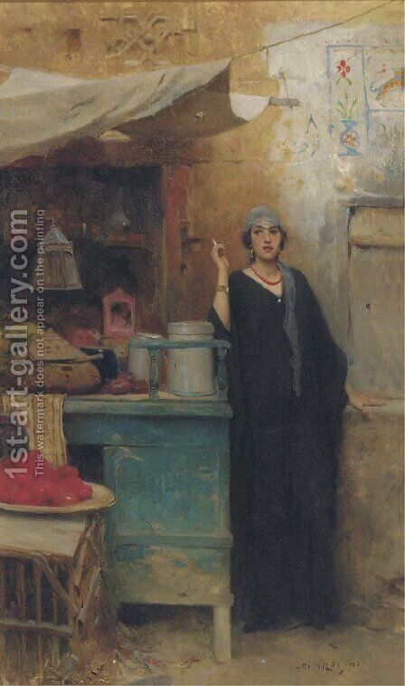 The furtive cigarette by Charles Wilda - Reproduction Oil Painting