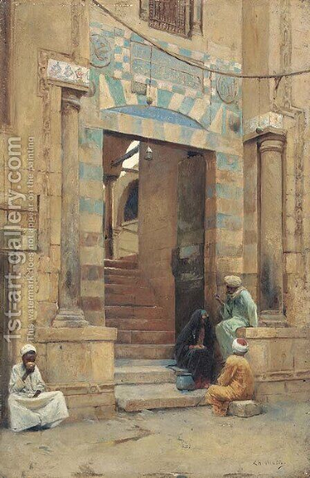 The Mosque by Charles Wilda - Reproduction Oil Painting