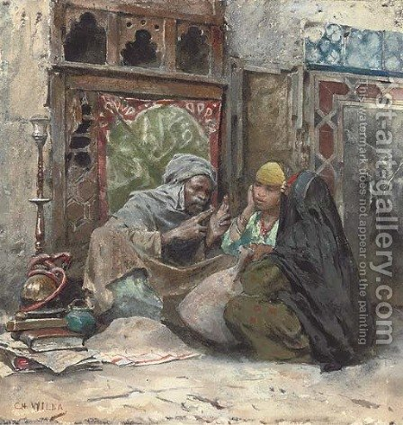 The story teller by Charles Wilda - Reproduction Oil Painting