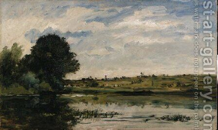 Au bord de la Seine by Charles-Francois Daubigny - Reproduction Oil Painting