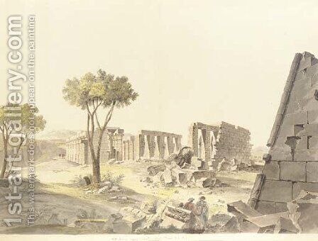 The ruins of the Ramesseum by Charles-Louis Balzac - Reproduction Oil Painting