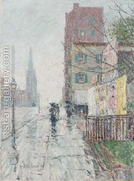 Rainy Day by Childe Hassam - Reproduction Oil Painting