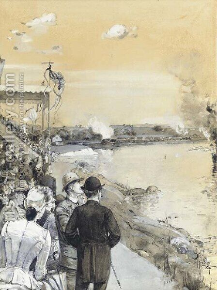 Regatta by Childe Hassam - Reproduction Oil Painting