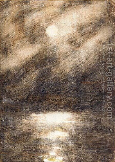 Sturmische See bei Nacht by Christian Rohlfs - Reproduction Oil Painting
