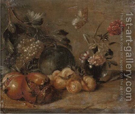 Pomegranates by (after) Abraham Brueghel - Reproduction Oil Painting