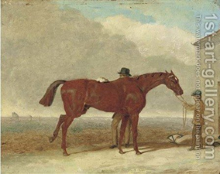 Epsom Downs, before the race by (after) Cooper, Abraham - Reproduction Oil Painting