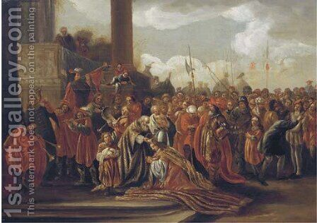 The Anointing of Solomon () by (after) Adriaan Verdoel - Reproduction Oil Painting