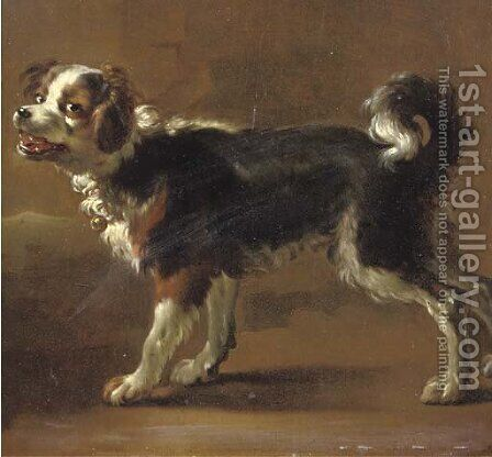 Een Kooikerhond by (after) Adriaen Cornelisz. Beeldemaker - Reproduction Oil Painting