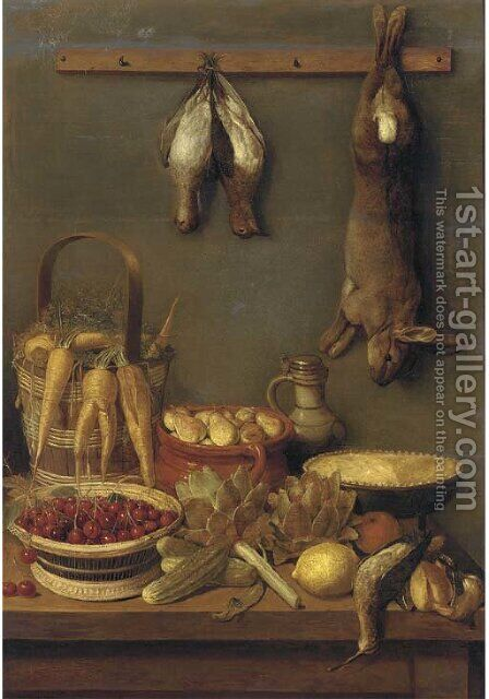 Still life by (after) Adriaen Van Utrecht - Reproduction Oil Painting
