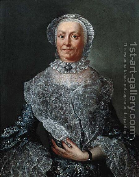 Portrait of an elderly woman by (after) Alessandro Longhi - Reproduction Oil Painting