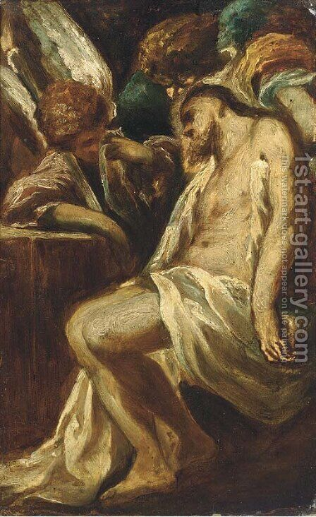 The Pieta by (after) Alessandro Magnasco - Reproduction Oil Painting