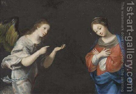 The Annunciation by (after) Alessandro Turchi - Reproduction Oil Painting