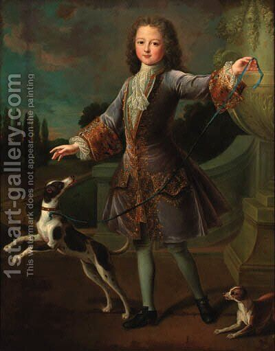 Portrait of a young gentleman by (after) Alexis-Simon Belle - Reproduction Oil Painting