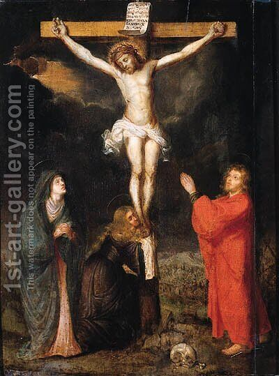 The Crucifixion by (after) Ambrosius Francken I - Reproduction Oil Painting