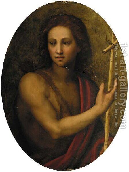 Saint John the Baptist by (after) Andrea Del Sarto - Reproduction Oil Painting