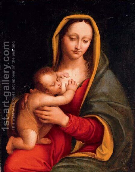 The Madonna and Child by (after) Andrea Solario - Reproduction Oil Painting