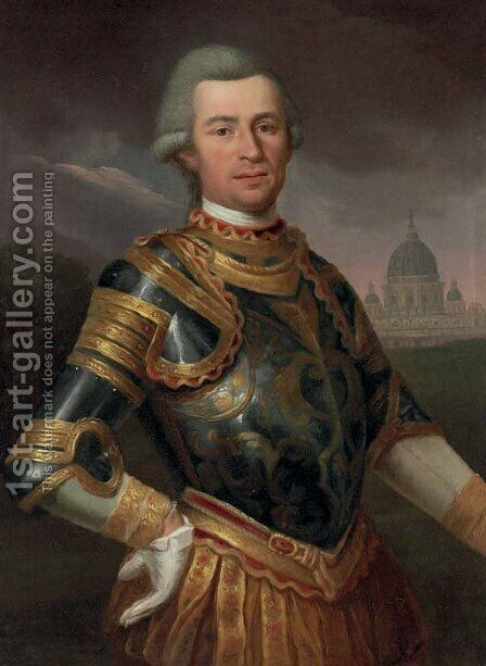 Portrait of a gentleman by (after) Anton Von Maron Vienna - Reproduction Oil Painting