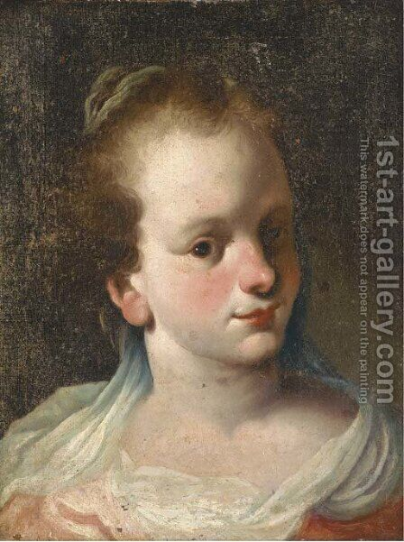 Head of a girl by (after) Antonio Amorosi - Reproduction Oil Painting