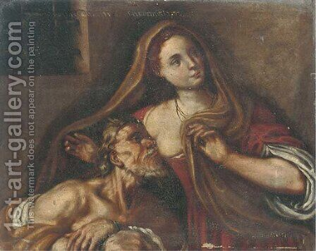 Roman Charity by (after) Antonio Amorosi - Reproduction Oil Painting