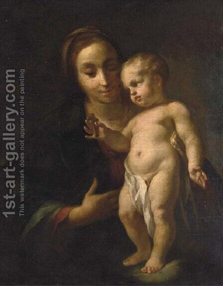 The Madonna and Child by (after) Antonio Balestra - Reproduction Oil Painting