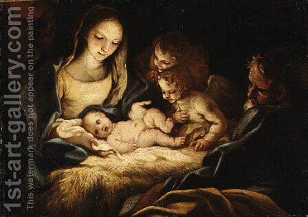The Nativity by (after) Antonio Balestra - Reproduction Oil Painting