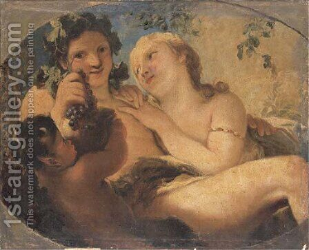 Bacchus and Ariadne by (after) Antonio Bellucci - Reproduction Oil Painting