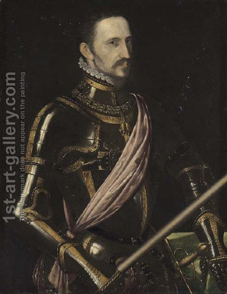 Portrait of Don Fernandez Alvarez de Toledo, 3rd Duque de Alba (1507-1582) by (after) Antonis Mor Van Dashorst - Reproduction Oil Painting