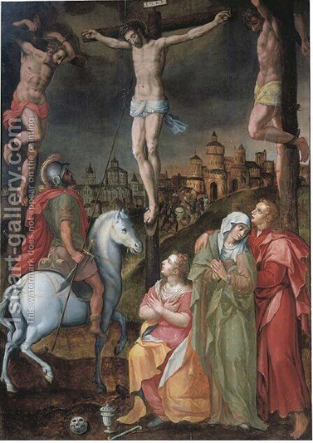 The Crucifixion by (after) Antonius Claeissens - Reproduction Oil Painting