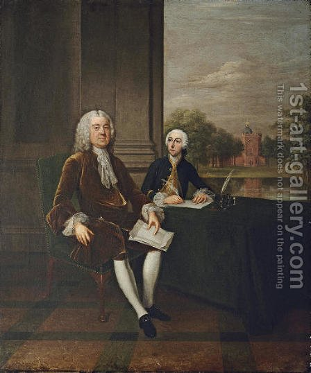 Portrait of Henry Pelham, Prime Minister (1694-1754) by (after) Arthur Devis - Reproduction Oil Painting