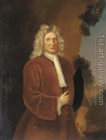 Portrait of Thomas Coster, M.P. for Bristol (c.1732) by (after) Arthur Pond - Reproduction Oil Painting
