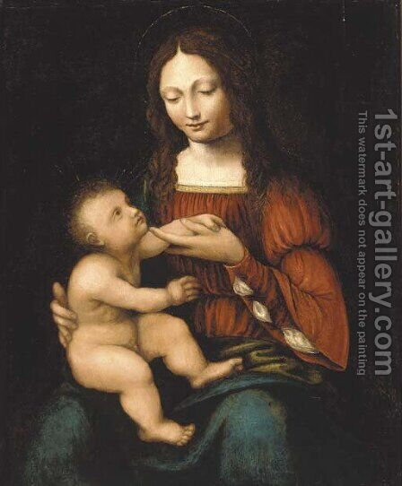 The Madonna and Child by (after) Bernardino Luini - Reproduction Oil Painting