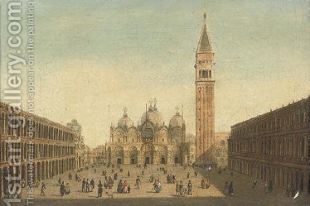 The Piazza San Marco, Venice by (after) Carlo Grubacs - Reproduction Oil Painting