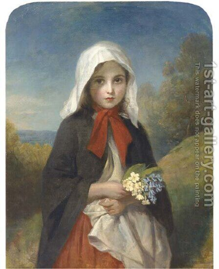A Springtime posy by (after) Charles Baxter - Reproduction Oil Painting