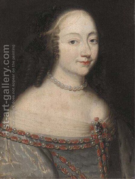 Portrait of lady by (after) Charles Beaubrun - Reproduction Oil Painting