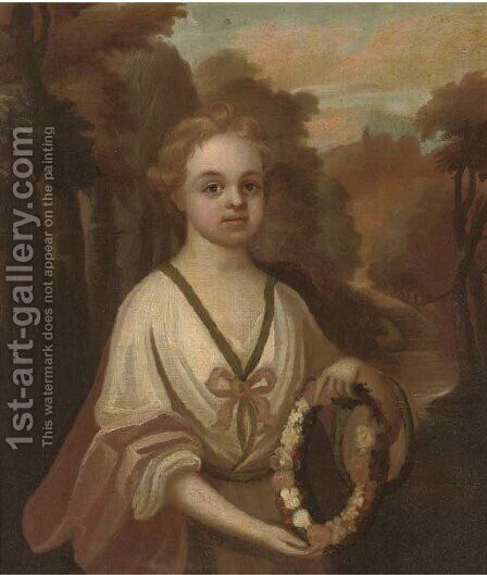 Portrait of a young girl by (after) Charles D'Agar - Reproduction Oil Painting
