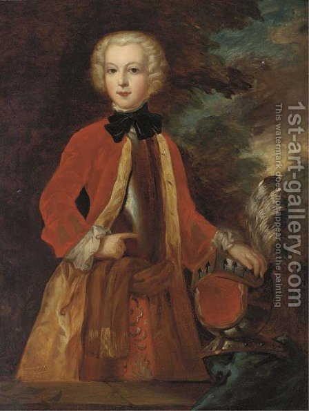 Portrait of Lord Strathnaver by (after) Charles Phillips - Reproduction Oil Painting