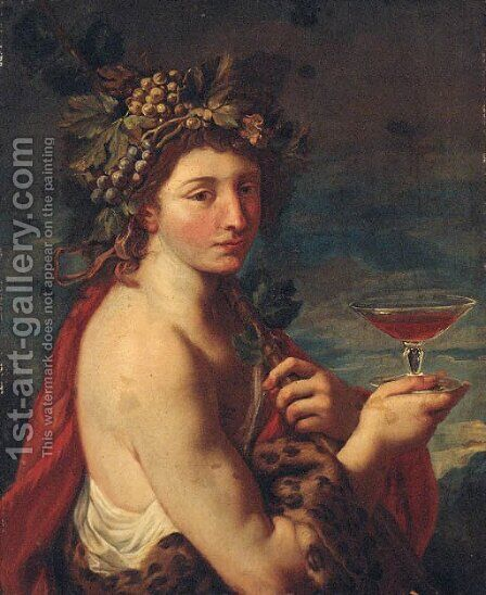 Bacchus by (after) Charles-Joseph Natoire - Reproduction Oil Painting