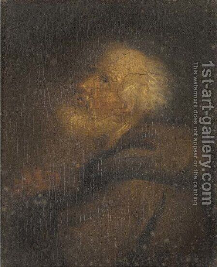 Saint Francis of Paola by (after) Christian Wilhelm Ernst Dietrich - Reproduction Oil Painting