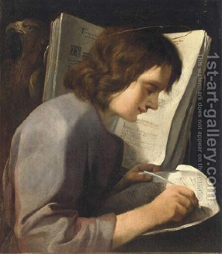 Saint John the Evangelist by (after) Claude Vignon - Reproduction Oil Painting
