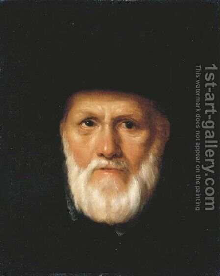 Portrait of Dirck Volckertsz. Coornhert (1522-1590) by (after) Cornelis Cornelisz Van Haarlem - Reproduction Oil Painting
