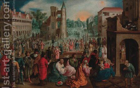 The Adoration of the Magi by (after) Cornelis De Baellieur I - Reproduction Oil Painting