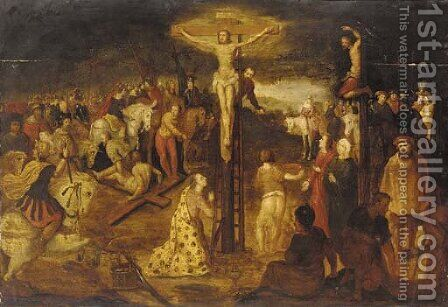The Crucifixion by (after) Cornelis De Baellieur - Reproduction Oil Painting