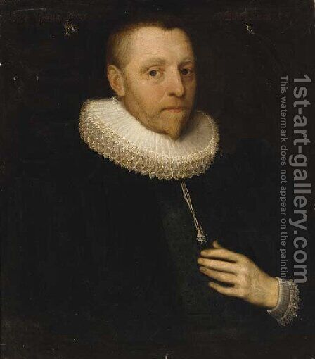 Portrait of a gentleman by (after) Cornelis De Vos - Reproduction Oil Painting