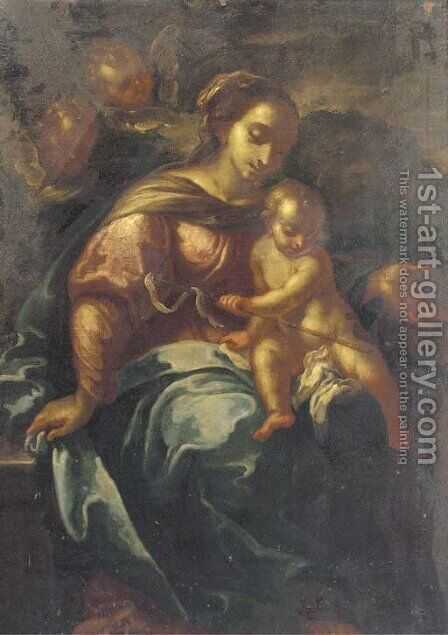 The Madonna and Child by (after) Daniele Crespi - Reproduction Oil Painting